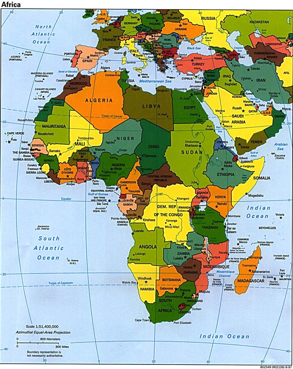 非洲高清地图全图