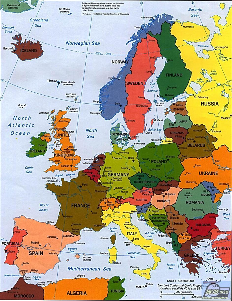 欧洲地图_欧洲地图全图_欧洲地图高清图片