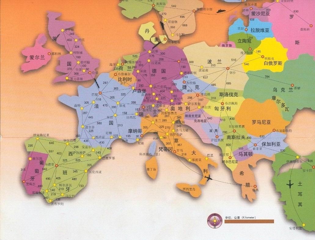 欧洲地图全图大图_
